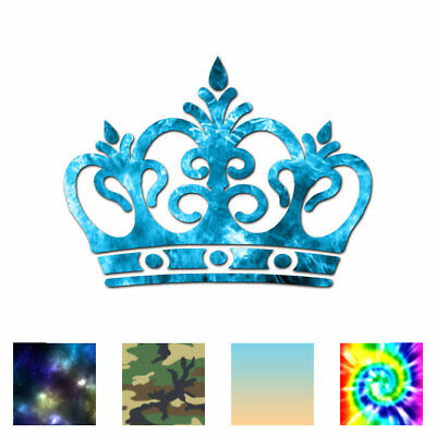 Royalty Crown Monarch King Decal Sticker Choose Color Size #3072