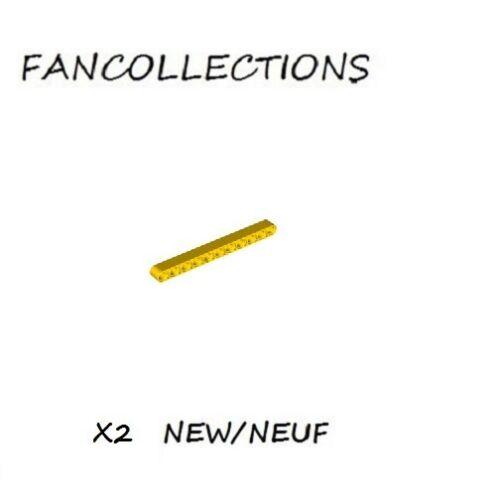 32525 NEUF Yellow Technic LEGO x 2 Liftarm 1x11 Thick