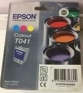 Original-Epson-T041-Tintenpatrone-3-farbig-fuer-Epson-Stylus-C62-CX3200