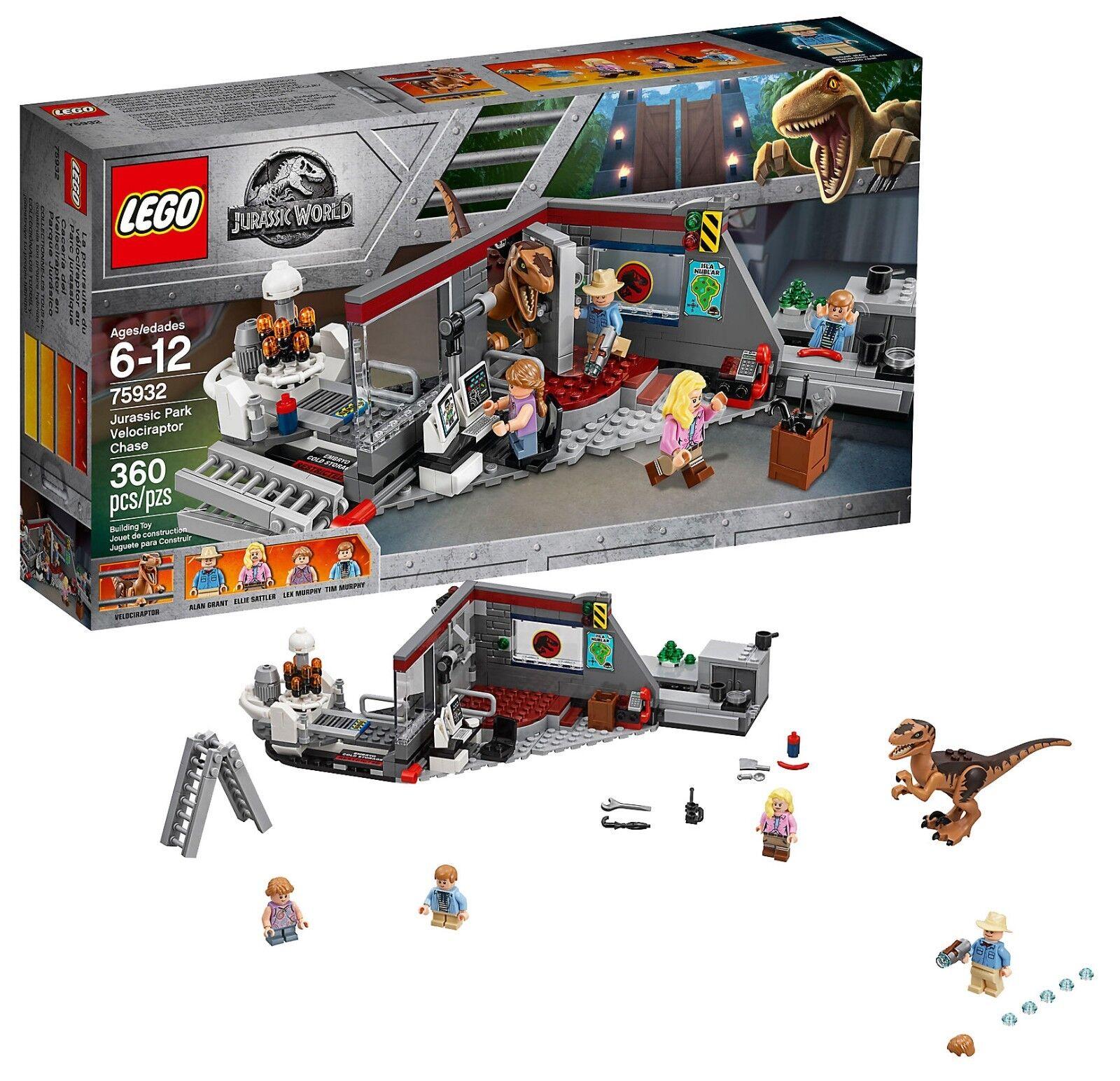 LEGO 75932 Jurassic World 2 Fallen Kingdom Velociraptor Chase 360pcs New Fast