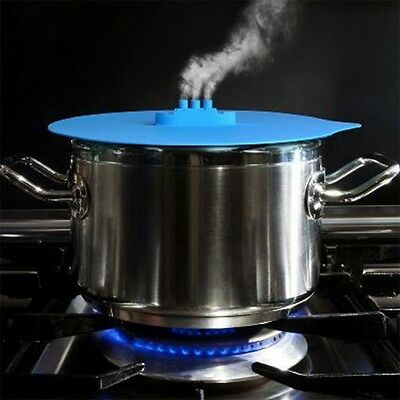 Silicone Steam Ship Steaming Lid Fred Steamship Pot Hot Cover Kitchen Cook HP