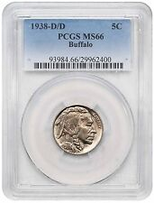 1938-D/D BUFFALO BUFFALO NICKEL PCGS MS66
