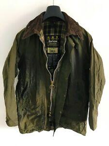 Mens-Barbour-Beaufort-wax-jacket-Olive-Green-coat-40-in-size-Medium-Large-M-L