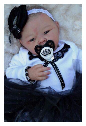 Honeybug MAGNETIC PACIFIER reborn art doll Sweetheart newborn baby handle BLACK