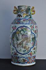 Superbe grand vase Chine XIX Antique Chinese Famille rose old vase