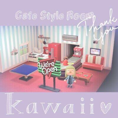 Animal Crossing New Horizons: Cafe Style Room design | eBay on Animal Crossing Living Room Ideas New Horizons  id=46495