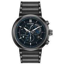 Citizen Eco-Drive Men's Proximity Chronograph Black 46mm Smart Watch BZ1005-51E