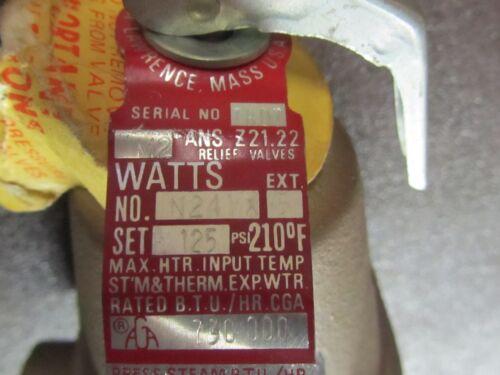 Watts N241X-5 Automatic Reseating Temperature Pressure Relief Valve 125 psi