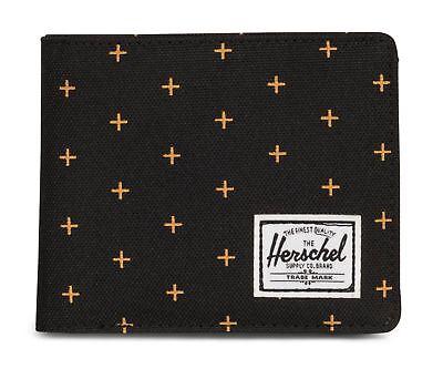 Fiducioso Herschel Roy Plus Coin Rfid Wallet Portafoglio Nero Nuovo-mostra Il Titolo Originale Lucentezza Luminosa