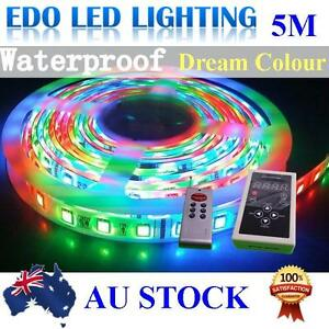 5M-5050-RGB-Dream-color-6803-IC-Chip-LED-Strip-Light-133-Functions-RF-Rmote