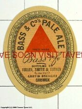 England Bass Ale Fuller Smith Turner Chiswick label Tavern Trove