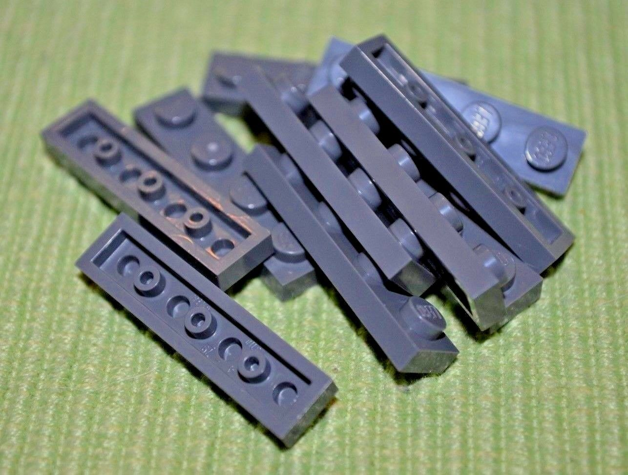 4 Black 2x10 Standard Plate Bricks ~ Lego ~ NEW ~ Castle