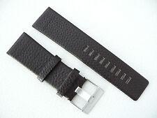 Herren Uhrenarmband Echtleder 26 mm Dunkelbraun für DIESEL Uhren DZ 1206 1026