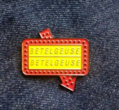Beetlejuice Betelgeuse Movie Sign Retro Tim Burton Enamel pin Badge