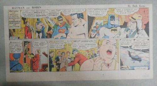7.5 x 15 inches Details about  /Batman Sunday by Bob Kane from 5//5//1968 Size