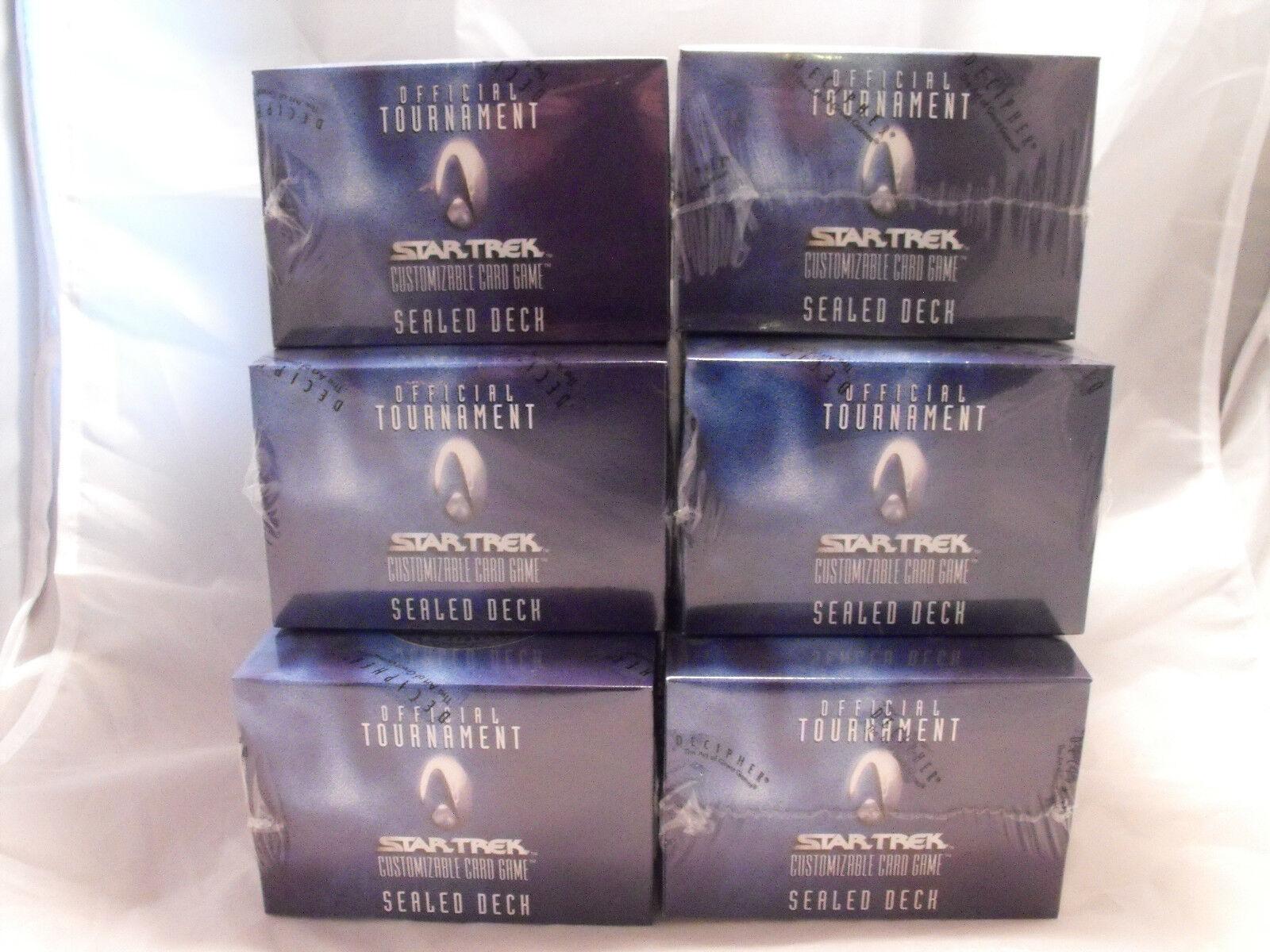 Star Trek Ccg Otsd Ufficiale Torneo Torneo Torneo Sigillato Mazzo Lotto di 6 071c7b