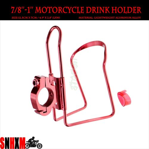 Red Handlebar Drink Holder Fit For Yamaha V-Star 650 950 1100 1300 Road Star