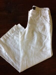 Outback Red White Linen Pants Womens Size 8 Wide Leg Ebay