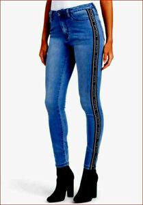 new BEBE women jeans skinny 5CD04731BB ink wash blue sz 29