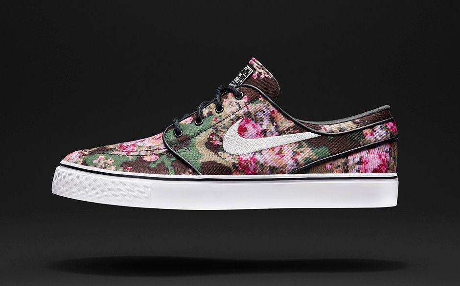 Nike Zoom Stefan Janoski PRM Digi Camo Floral size 13. Green Black . 482972-900.