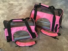 Soft Fabric Small Pet Crate Shoulder Carry Bag  Puppy Kitten Dog Cat New Pink