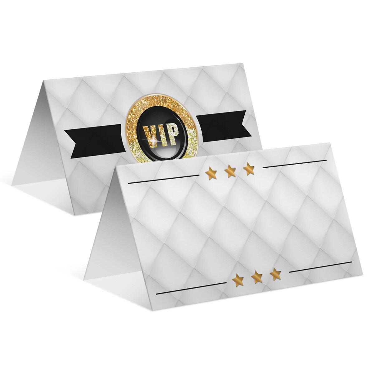 Blanko Platzkarten Namenskarten Tischkarten Geburtstag Hochzeit - VIP Gold | Perfekt In Verarbeitung  | Sonderpreis