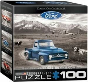 1954 Ford F-100 Heritage Ranch - 100 Piece Mini Jigsaw Puzzle - FREE US SHIPPING