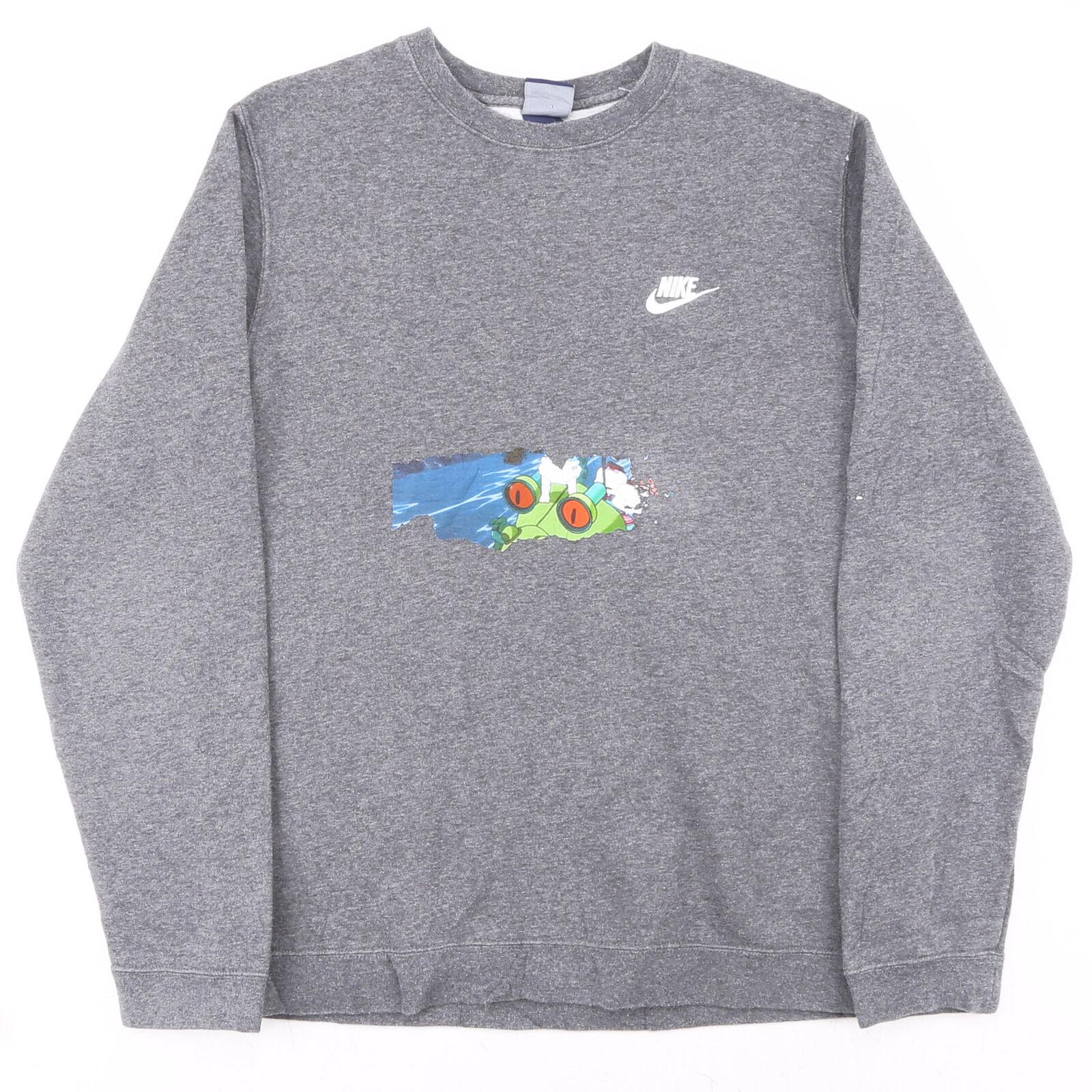 NIKE Grey Classic Crew Neck Sweatshirt Mens M