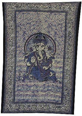 Indian Ganesha Twin Size Throw Tapestry Wall Hanging Bedspread Bed Sheet Throw