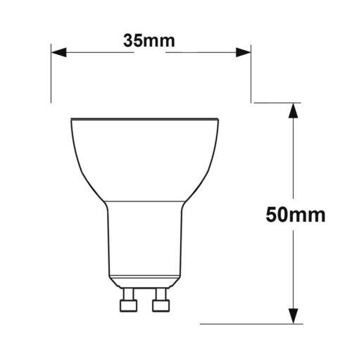 2 x Mini GU10 Halogen Light Bulbs 35mm Small GU10 35W