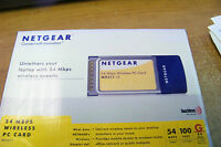 Netgear Wg511na 54 Mbps Wireless Pc Card Delivers Wireless Reach To Iaptops