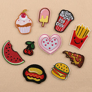 Food-Embroidered-Pizza-Iron-On-Patch-Sew-On-Badge-Food-Cloth-Embroidery-Applique