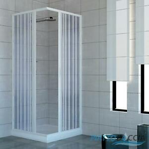 SHOWER ENCLOSURE WALK IN QUADRANT CUBICLE PLASTIC PVC FOLDING ...