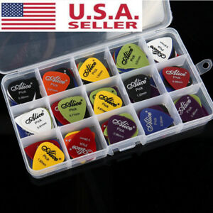 New-100pcs-Music-Guitar-Picks-Acoustic-Electric-Plectrums-Assorted-Thickness-USA