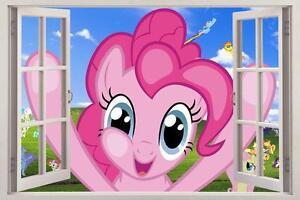 My Little Pony 3d Window Decal Graphic Wall Sticker Art Mural
