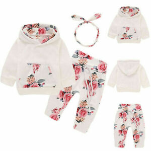 Newborn-Kid-Baby-Girl-Clothes-Hooded-Tops-Pants-Floral-Outfits-Sets-Tracksuit