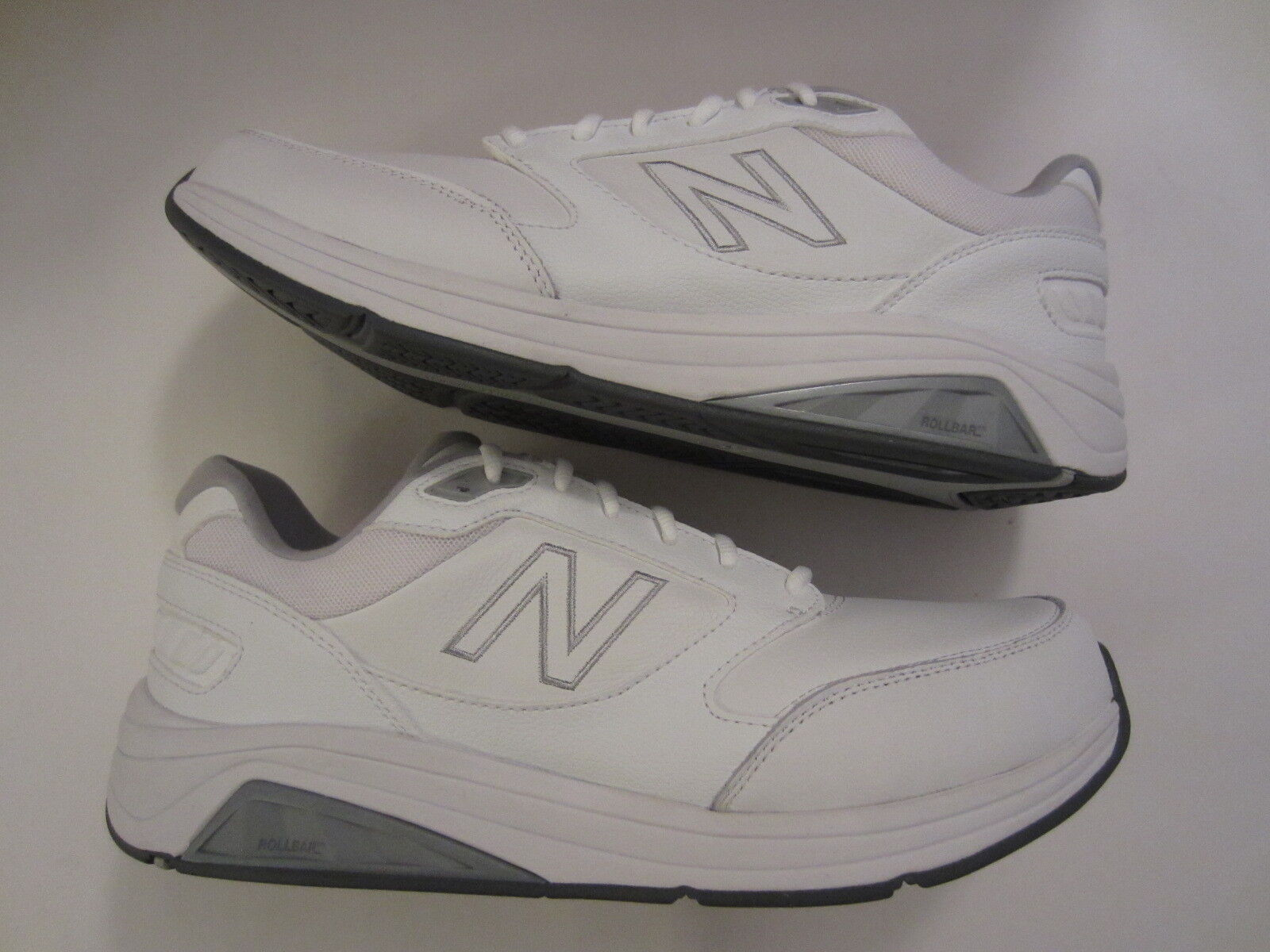 Men's NEW BALANCE MW928 V2 Walking leather sneaker shoe white size 10.5 D Medium