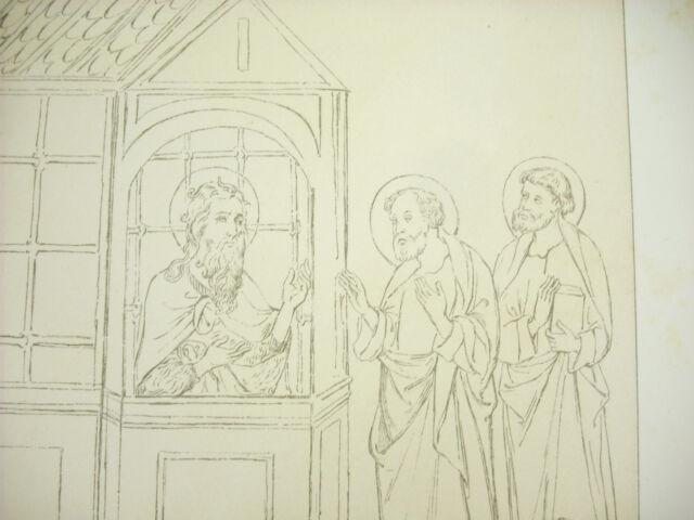 Saint Jean Baptiste IN Prison Italy XIV Th Litho Xixth 1858 Hangard