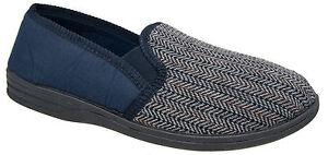 navy slip alla dalla 6 da confortevole Zedzzz inverno uomo 16 Pantofole taglie caldo blu qawIET6xZn