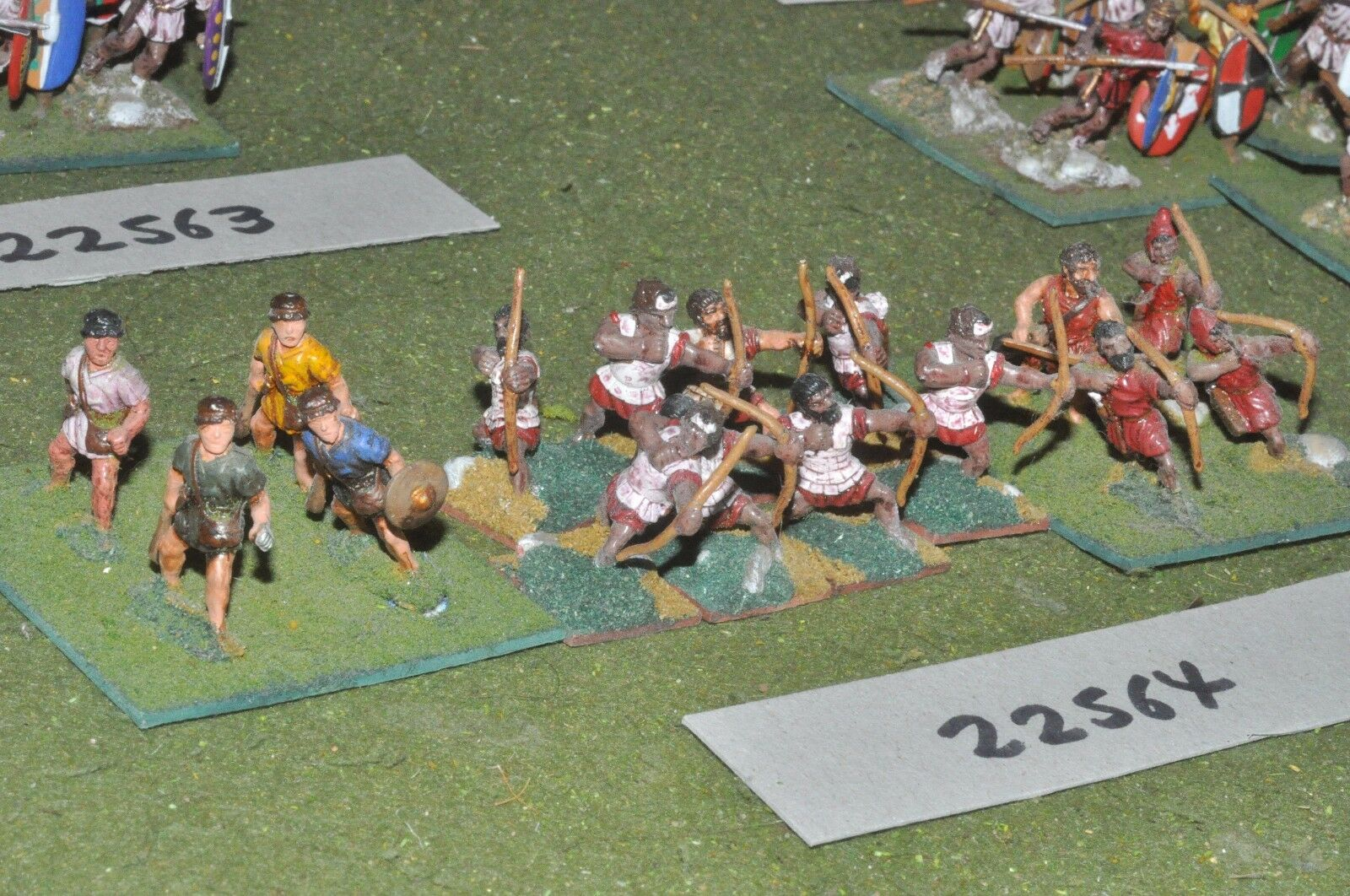 25mm Classical   greek - archers 16 figures - inf (22564)