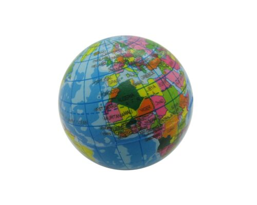 Softball Weltkugel Stressball 6cm Ball Schaumstoffball Knautschball Globos Erde