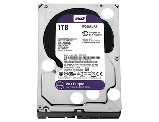 HARD DISK INTERNO 3,5 1TB WD WESTERN DIGITAL IntelliPower PURPLE WD10PURZ