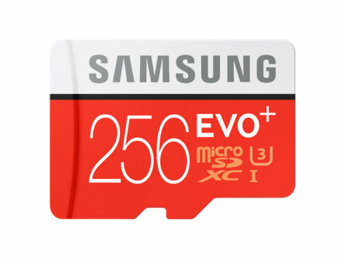 Samsung EVO Plus MICRO SD XC 100MB 256GB Class 10 UHS-I 100/90 MB-MC256G 4K