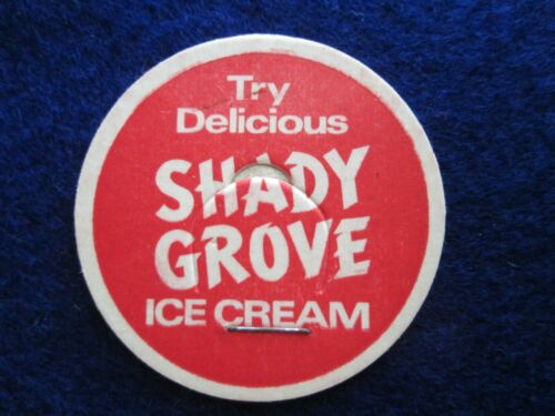 "3 Vintage /""Try Delicious Shady Grove Ice Cream/"" milk bottle caps So California"