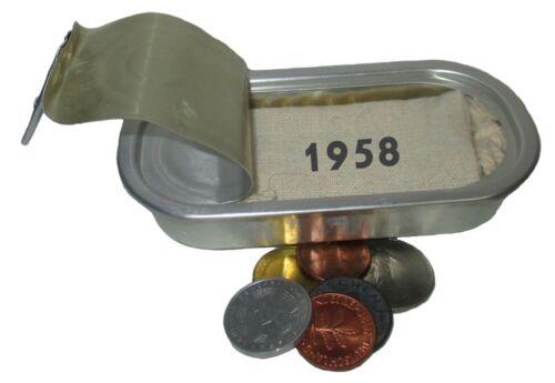 NOSTALGIE von WallaBundu Geburtstag 5 Münzen 1958 DDR BRD etc Geschenk zum 61