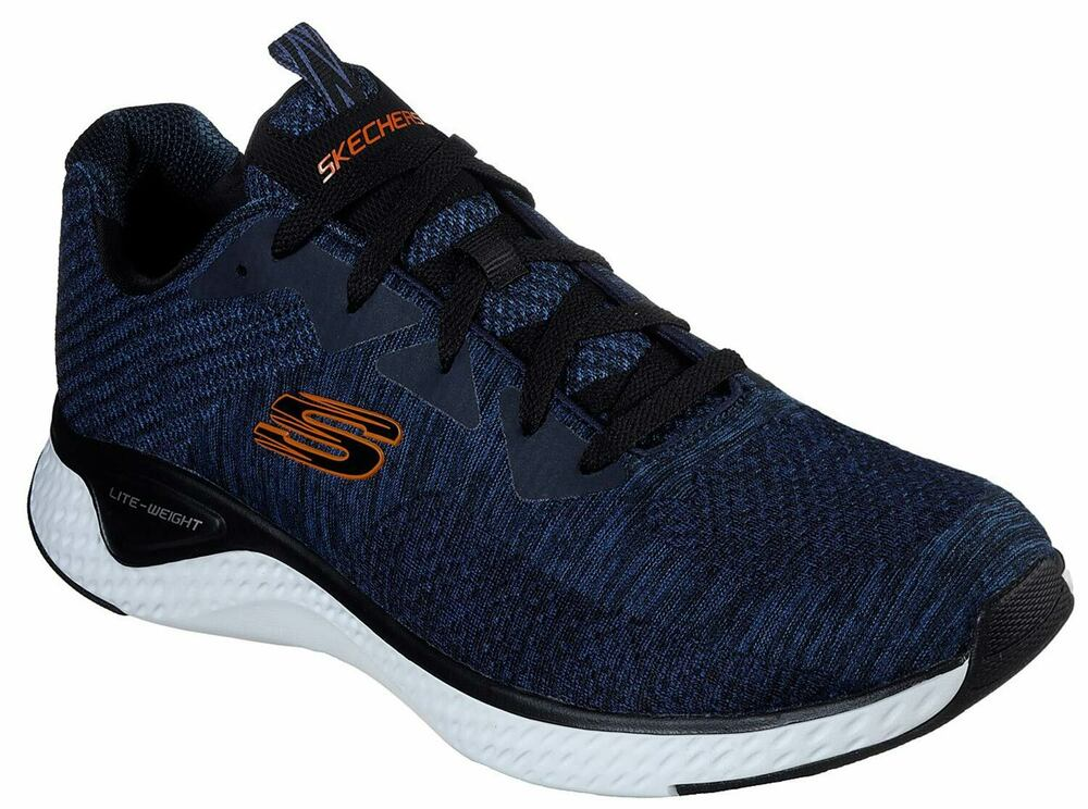 Skechers Solaire Fuse Hommes Sneaker Low Chaussures Bleu