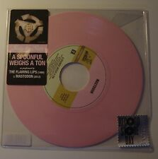 """THE FLAMING LIPS & MASTODON - A Spoonful Weighs A Ton 7"""" PINK VINYL RSD 2012"""