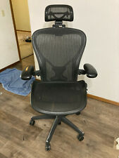 New Listingherman Miller Aeron Chair C Size Fully Loaded With Aftermarket Headrest