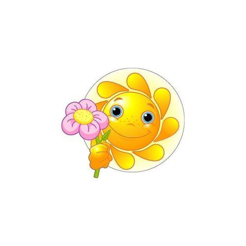 Dimensions de 10 cm à 130cm de hauteur Sticker enfant Fleur soleil réf 2518