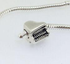 JS401 piano Silver charms bead Fit European Bracelet/Necklace Chain
